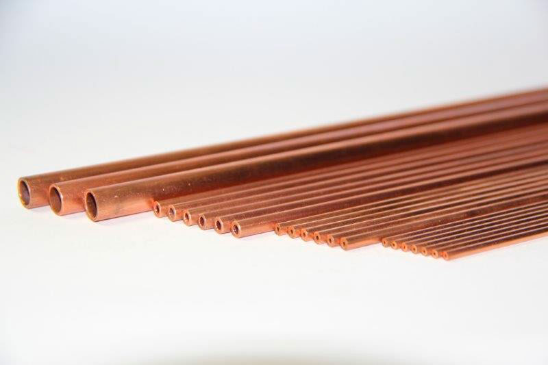 Tubos capilares de cobre
